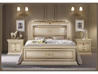 Arredo Classic: Leonardo: кровать 200х200 (крем, золото)
