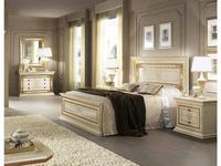 Arredo Classic: Leonardo: кровать 160х190 (крем, золото)
