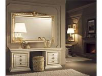 Arredo Classic: Leonardo: зеркало настенное большое (крем, золото)