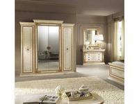 Arredo Classic: Leonardo: шкаф 4-х дверный малый (крем, золото)