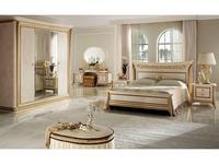 Arredo Classic: Melodia: кровать 200х200 King  (слоновая кость, золото)