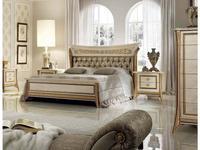 Arredo Classic: Melodia: кровать 160х190 с мягкой спинкой  (беж, золото)