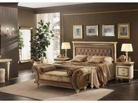 Arredo Classic: Fantasia: кровать 160х190  с мягкой спинкой (кремовый мраморный)
