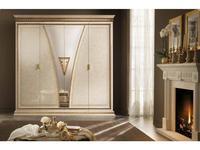 Arredo Classic: Fantasia: шкаф 4-х дверный (кремовый мраморный)