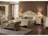 Arredo Classic: Tiziano: кровать 160х190 (слоновая кость, золото)