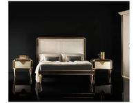 Arredo Classic: Diamante: кровать 160х200 (слоновая кость, вяз, золото)
