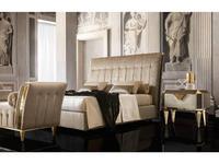 Arredo Classic: Diamante: кровать 160х200 с под-м мех-ом, ткань кат. В (слоновая кость)