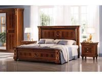 Arredo Classic: Modigliani: кровать 160х190/200 (орех)