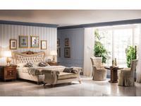 Arredo Classic: Modigliani: кровать 180х200 с мягкой спинкой (ткань)