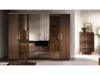 Arredo Classic: Essenza: шкаф 6-ти дверный (венге, коричневый, золото)