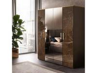 Arredo Classic: Essenza: шкаф 4 дверный (венге, коричневый, золото)