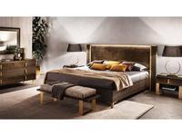 Arredo Classic: Essenza: кровать 160х190 (венге, коричневый, золото)