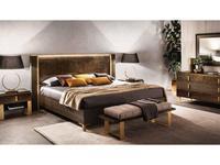 Arredo Classic: Essenza: кровать 160х200 (венге, коричневый, золото)