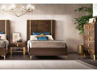 Arredo Classic: Essenza: кровать 110х190 (венге, коричневый, золото)