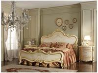 А и М Ghezzani: Роял: кровать 160х190 спинки деревянные (слоновая кость, золото)