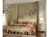 А и М Ghezzani: Роял: кровать 180х200 спинки деревянные (слоновая кость, золото)