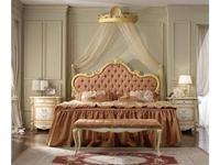 А и М Ghezzani: Роял: кровать 160х190 мягкое изголовье (слоновая кость, золото)