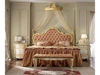 А и М Ghezzani: Роял: кровать 180х200 мягкое изголовье (слоновая кость, золото)