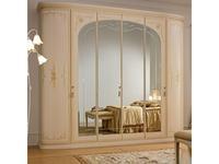 А и М Ghezzani: Принцесса: шкаф 6 дверный (слоновая кость, золото)