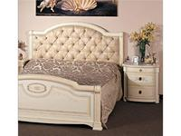 А и М Ghezzani: Принцесса: кровать 160х190 ткань, дерево (слоновая кость, золото)
