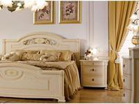 А и М Ghezzani: Принцесса: кровать180х200 с деревянными спинками (слоновая кость, золото)