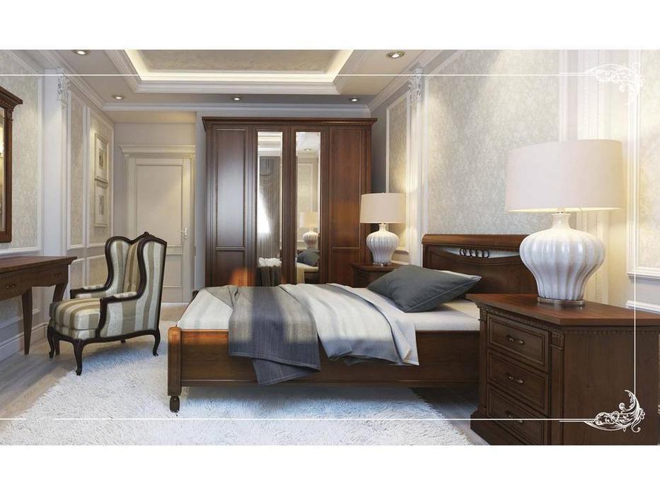 Liberty: Флоренция: кровать  160х200 без изножья (вишня)