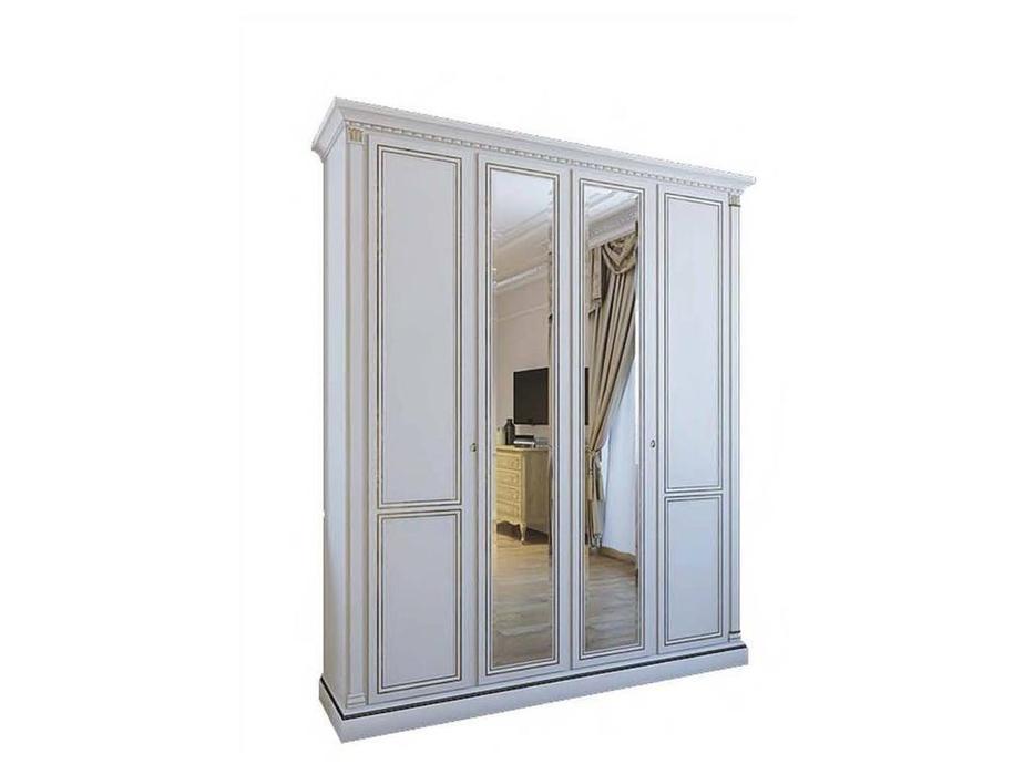 Liberty: Венеция: шкаф 4-х дверный без зеркал  (белый)