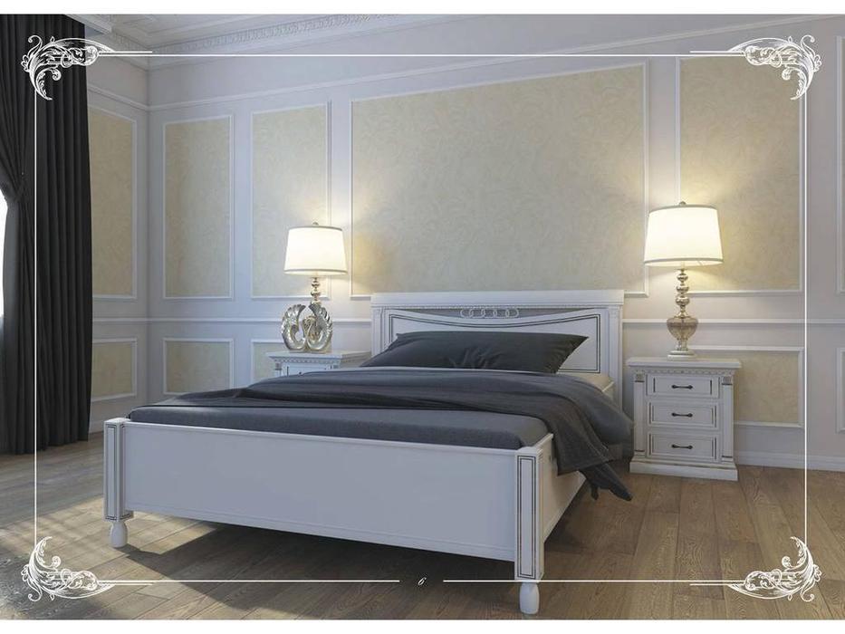Свобода: Флоренция: кровать  160х200 без изножья (слоновая кость, золото)