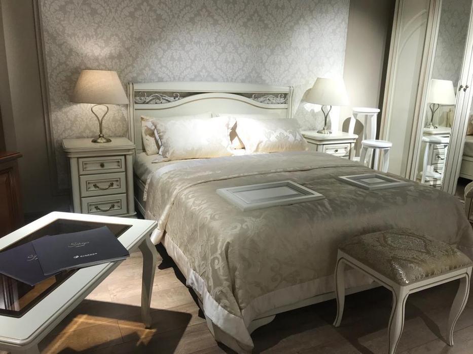 Liberty: Сильвия: кровать 160х200  (белый ясень, золотая патина)