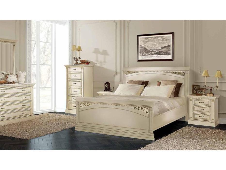 Liberty: Флоренция: кровать  180х200 (слоновая кость, золото)