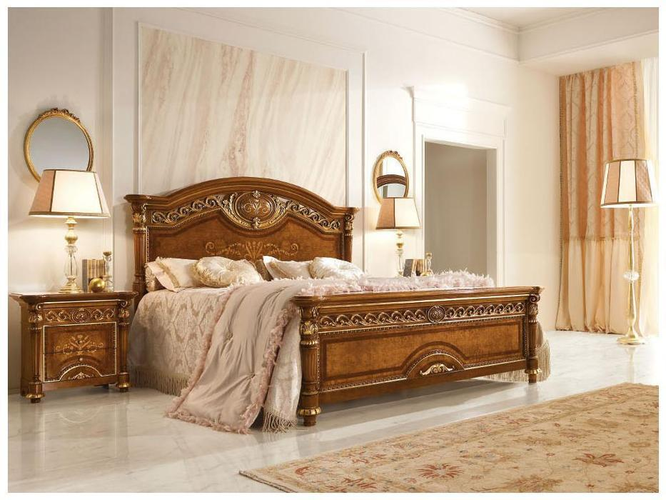 Valderamobili: Luigi XVI: кровать 182х208  (орех)
