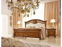 Valderamobili: Luigi XVI: кровать 202х208  ткань (орех)