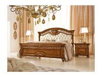 Valderamobili: Luigi XVI: кровать 182х208  ткань (орех)