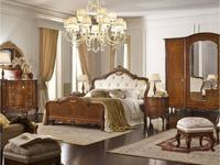 Valderamobili: Principe: кровать 162х195  (noce, ткань)