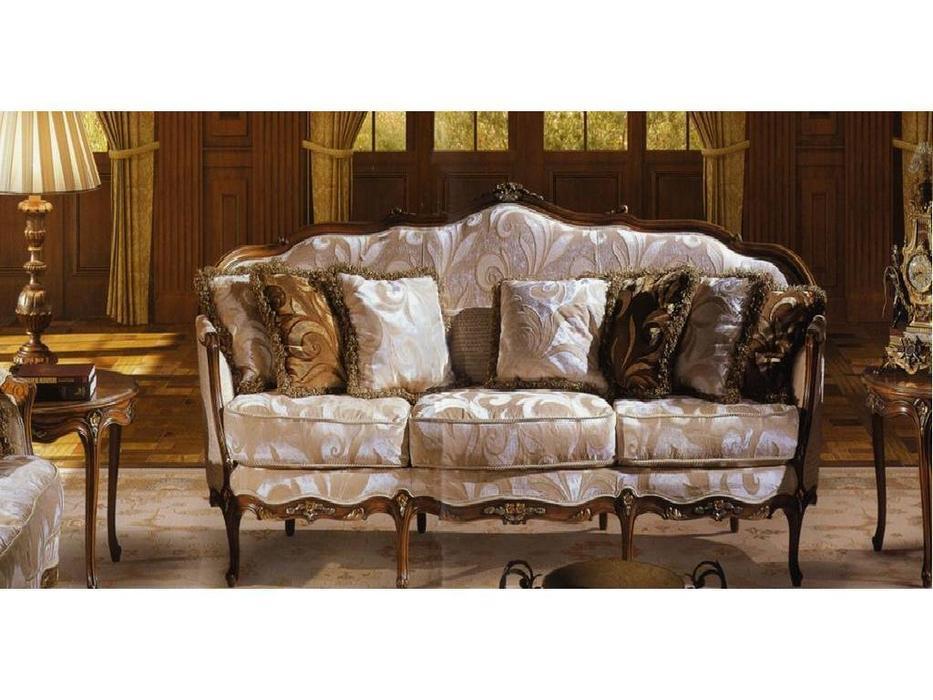 Angelo Cappellini: диван 3-х местный ткань  (antico persato oro, argento)