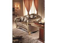 Arredo Classic: Giotto: диван 3-х местный Джотто ткань кат. G (золото)