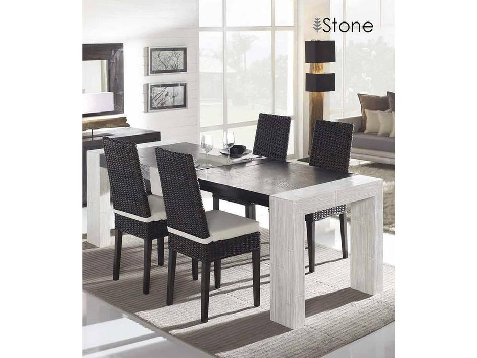 Joenfa: Stone: стол обеденный раскладной  (crush bamboo)