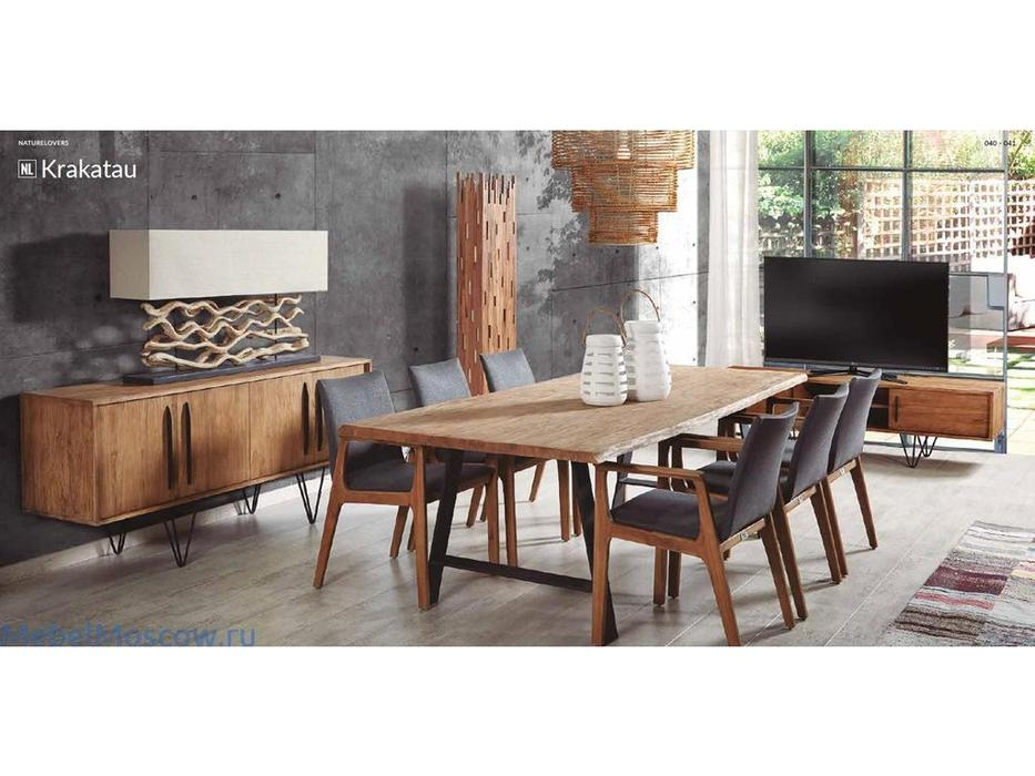 Joenfa: Krakatau: стол обеденный  (natural wood)