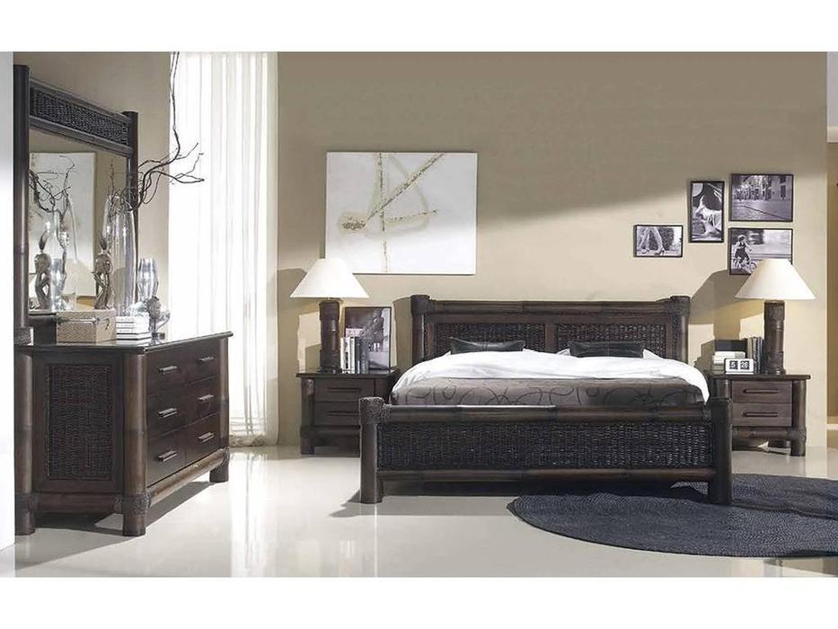 Joenfa: Tropicana: кровать 180х200  (bamboo, rattan, mahogany wood)