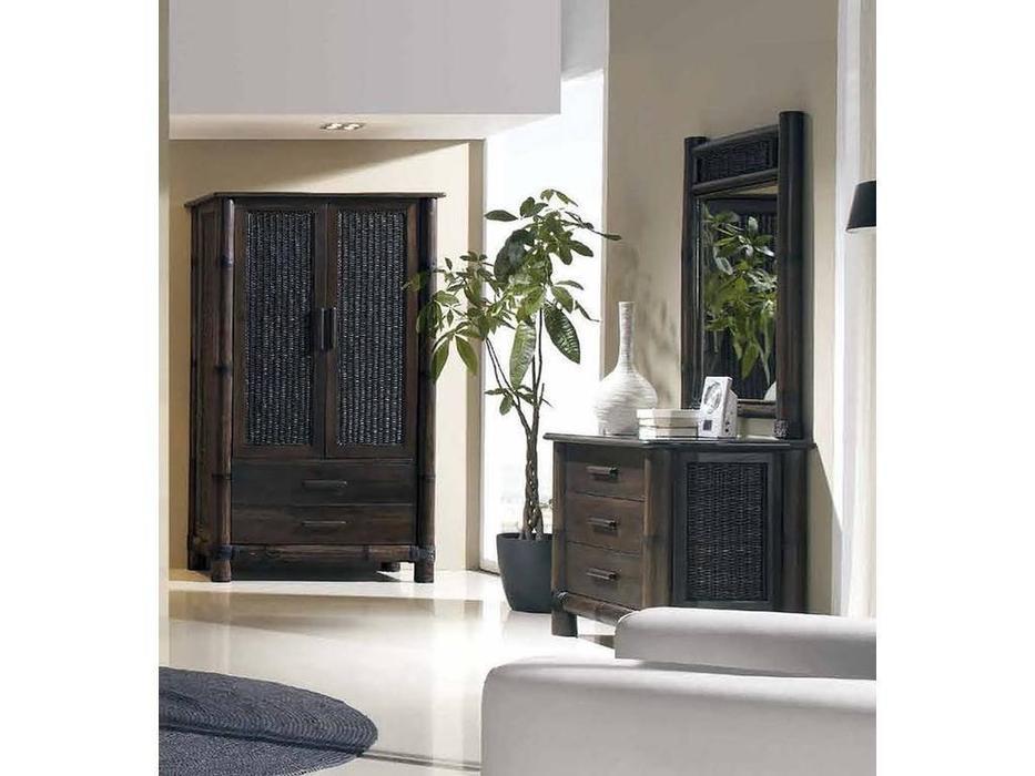 Joenfa: Tropicana: шкаф 2-дв.  (bamboo, rattan, mahogany wood)
