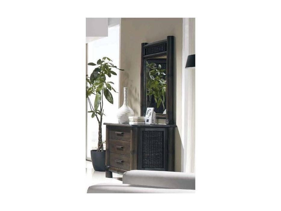 Joenfa: Tropicana: зеркало настенное  (bamboo, rattan, mahogany wood)