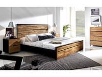Joenfa: Avana: кровать 180х200  (teak, mahogany black)