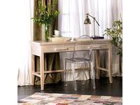 Joenfa: Lyra: стол письменный  (teak, sanded white)