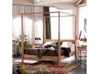 Joenfa: Lyra: кровать 160х200  (teak, sanded white)