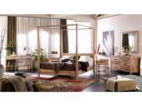 Joenfa: Lyra: кровать 180х200  (teak, sanded white)