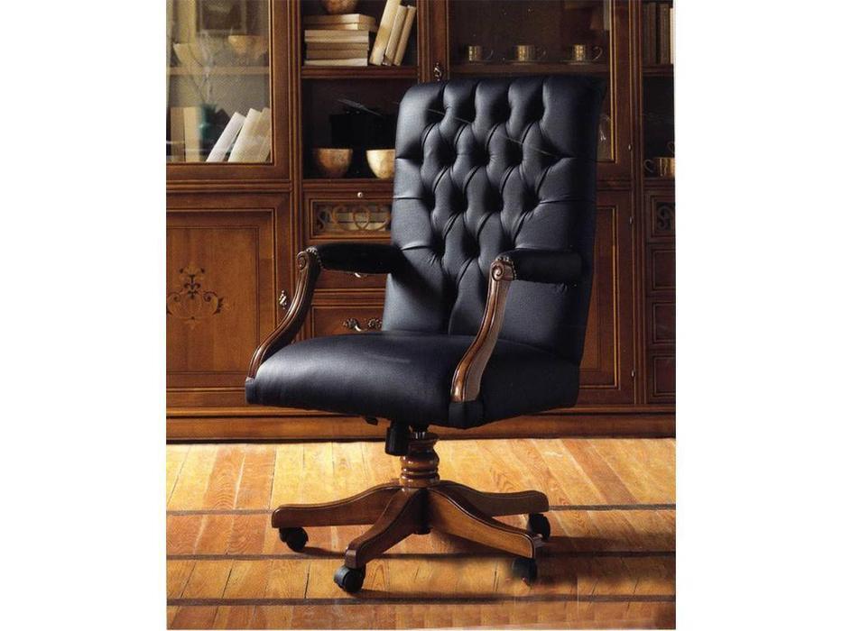 Cavio: Madeira Intarsio: кресло с механизмом  кожа P 705 (черешня мадейра, табако)