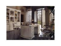 Cavio: Madeira Bianco: стол письменный 2-х тумбовый  (белый лак)