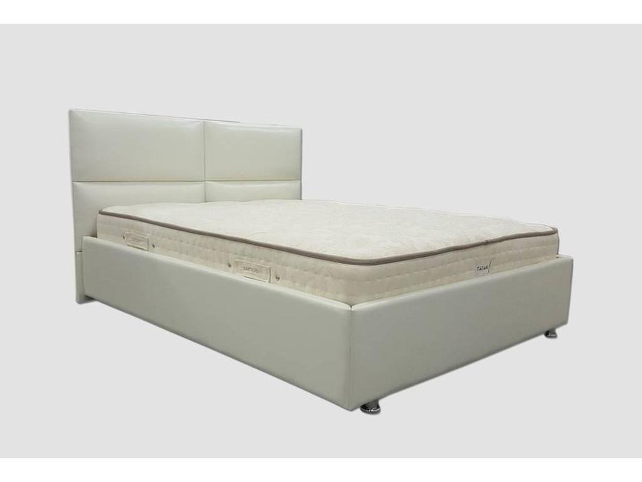 Tatami: Базель: кровать 200х200 с под.мех-м (экокожа)
