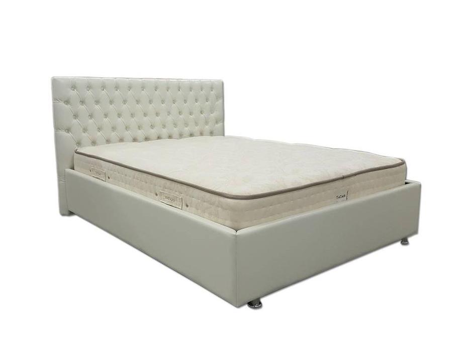 Tatami: Ванкувер: кровать 200х200 с под.мех-м (экокожа)