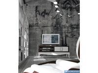 La Ebanisteria: Bauhaus: тумба под телевизор Баухаус  (walnut 3, bianco piano)